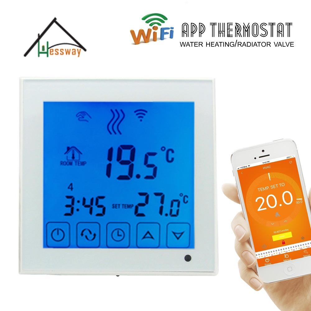6+1 programmable EU heating thermostat wifi water heating radiator wifi thermostat temperature controller eu radiator thermostat wifi boiler dry contac linkage controller for underfloor warm system