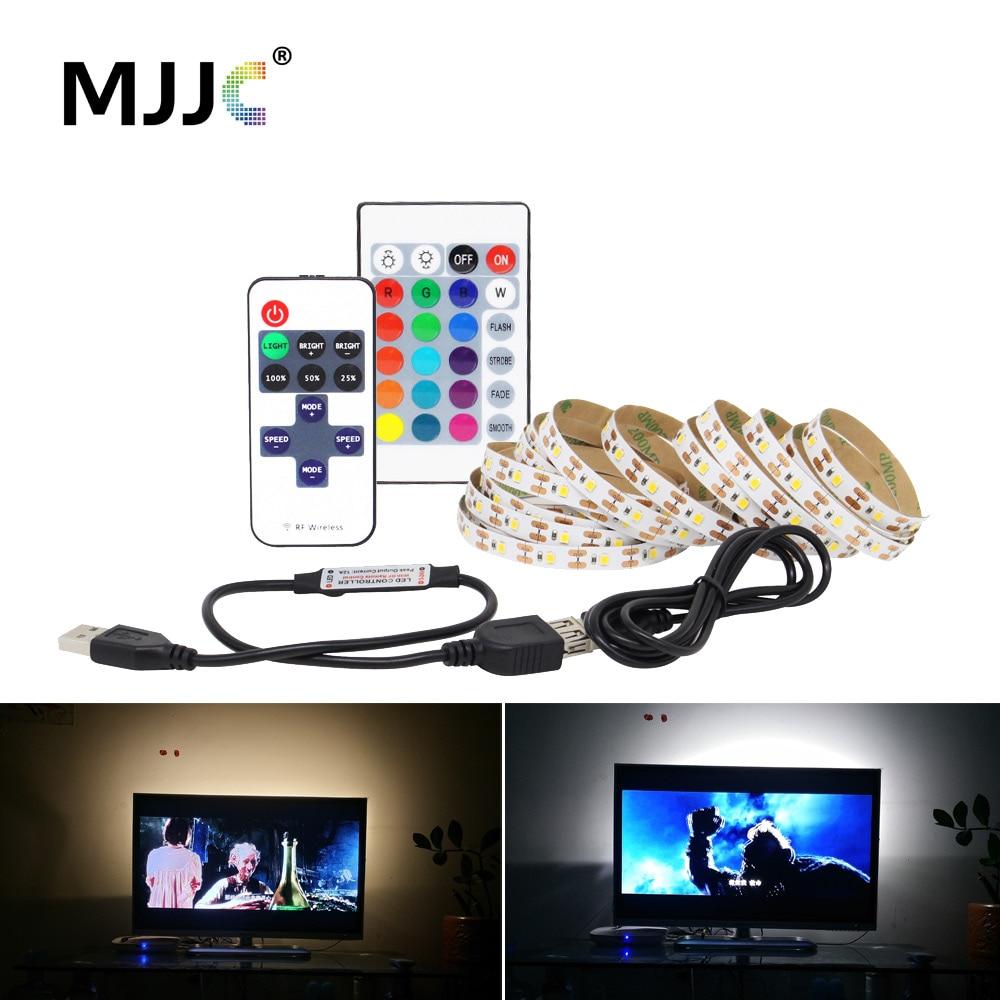 LED Strip Bluetooth USB 5V SMD 5050 3528 Waterproof RGB CCT Wireless Music USB LED Stripe Light For Computer TV Bias Lighting