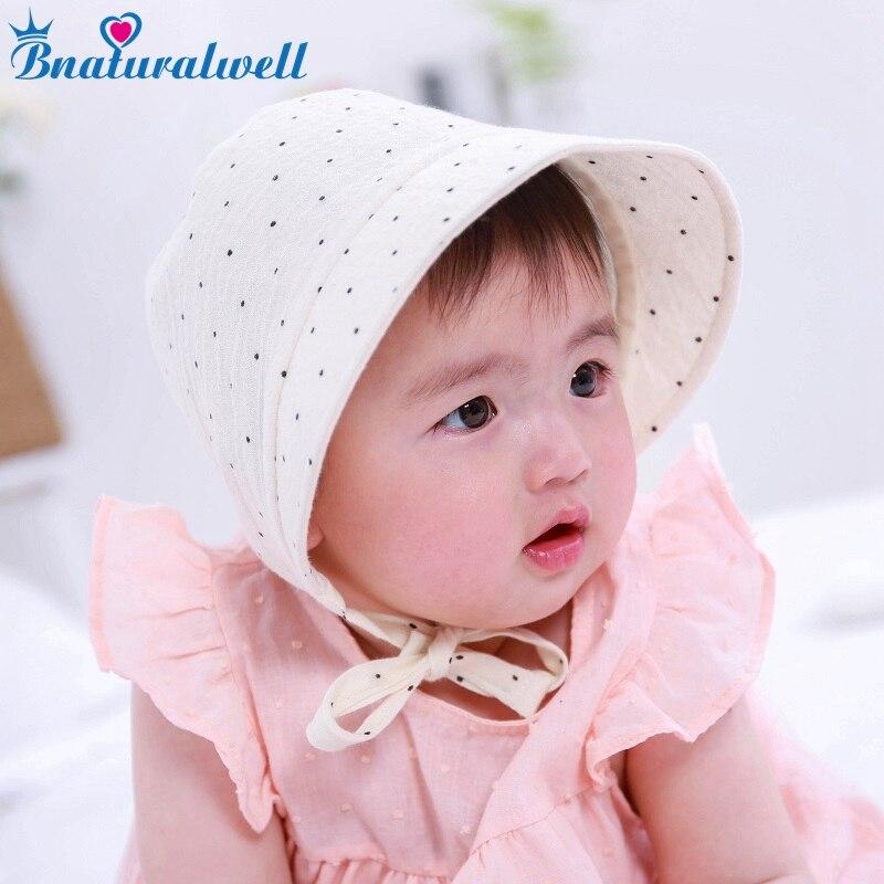 Bnaturalwell Baby girls bonnet Sunbonnet Toddler Cotton Sunhat Infant Bonnet Photo Prop Newborn Hat shower gift Photo Prop H837