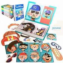 лучшая цена Magnetic Puzzle Jigsaw Toys Children 3D Puzzle Figure/Animals/ Vehicle /Circus Drawing Board Learning Educational Toys For Kids