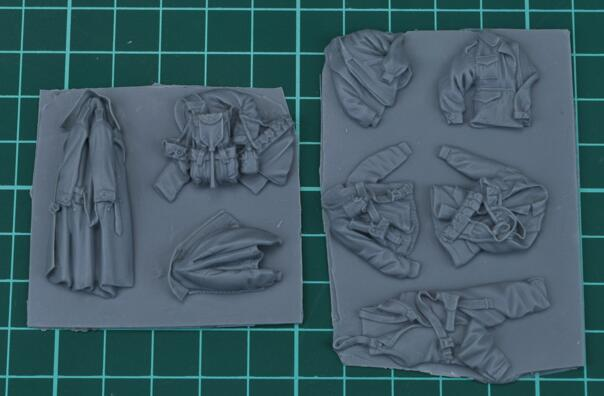 1/35 Modified Parts WWII US Tankman Infantry Officer Uniform 1 Set (suitable For Armored Vehicle)