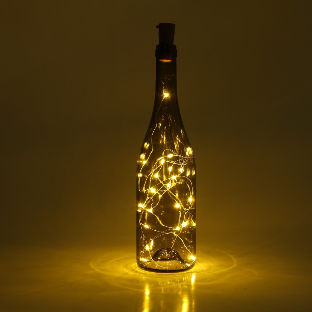 Wine Bottle Cork Lights 6 Packs 2m/7.2ft Copper Wire String Lights 20 LEDs for DIY, Party Decor, Christmas,Wedding (Warm White)