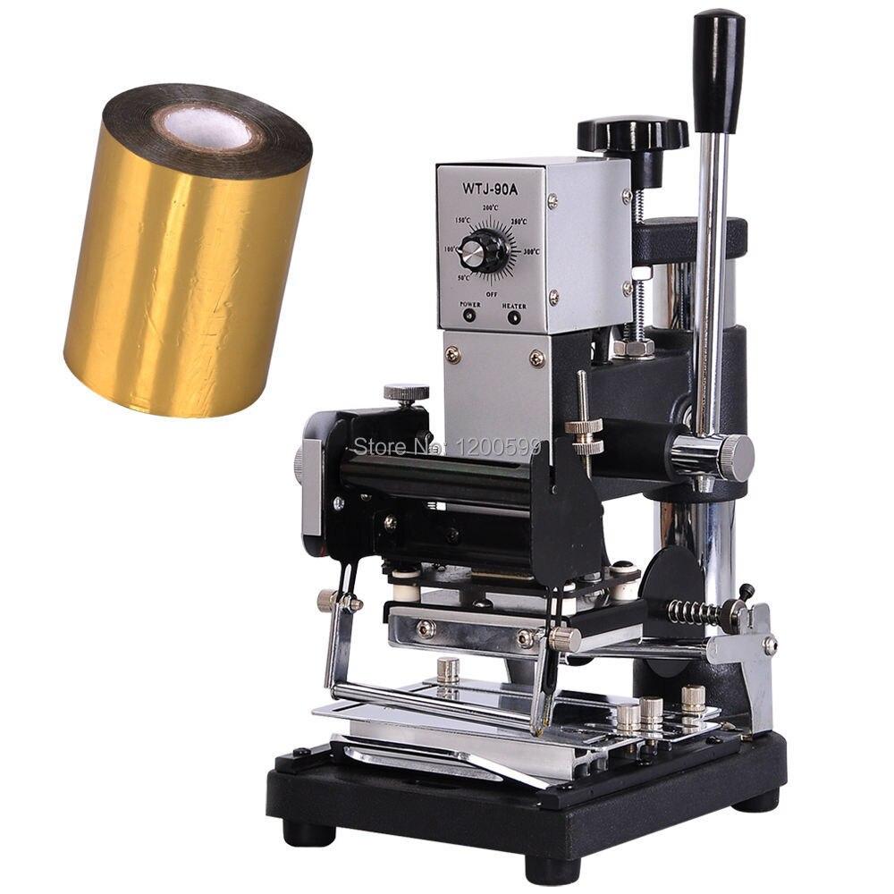 Hot Foil Stamping Machine Tipper Bronzing PVC ID Credit Card W/ Free Foil Paper maquina de hot stamping