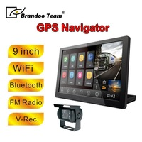 9inch WIFI bluetooth truck bus lorry Trailer Radio Car GPS Navigatio with dual camera recording,Android Navigation,free shipping