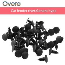 Overe – Clips de pare-choc et garniture de porte de voiture, 50X, rivets de garde-boue pour Renault Megane 3, Chevrolet Cruze Aveo Captiva Lada