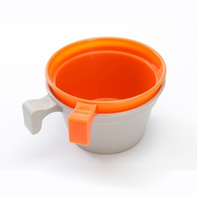 Portable Plastic Cup Lightweight PP Water Drinking Mug Outdoor Travel Picnic Camping Cookware With Handle outdoor camping cookware survival tactical glass beer mug promotion separation aluminum alloy black water cup for tourism