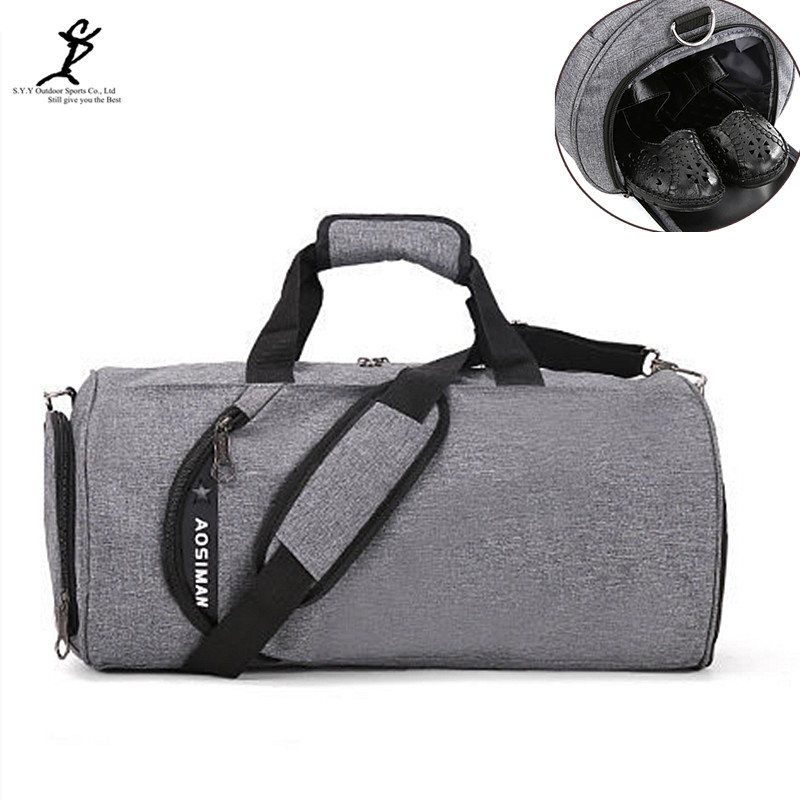 Men Canvas Gym Bag New Women Fitness And Sports Shoulder Bag Hot Male Outdoor Luggage Travel Bag Workout Storage Shoe Bag nylon waterproof sports bag fitness bag profession men and women gym shoulder bag surper light travel luggage crossbody bags