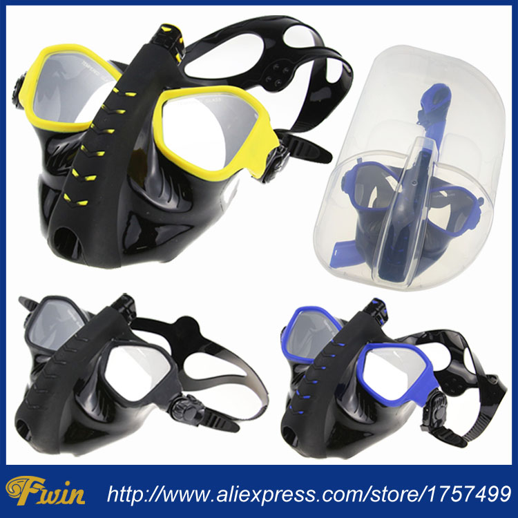 Newest Full Dry Diving Mask Snorkeling Mask Silicone Scuba Mask Mascara Buceo Full Face Alien Style Whole Dry Mask For Adult water pro liquid force mask scuba diving snorkeling