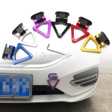 Universal for Car ABS Bumper Decoration Car Trailer Triangle Tow Hook Sticker Adorn Car Tralier Tow Hook Kit Car-styling 6colors abs metal colorful tow hook allen wrench car auto trailer decorative tow hook universal for truck suv front bumper automotive