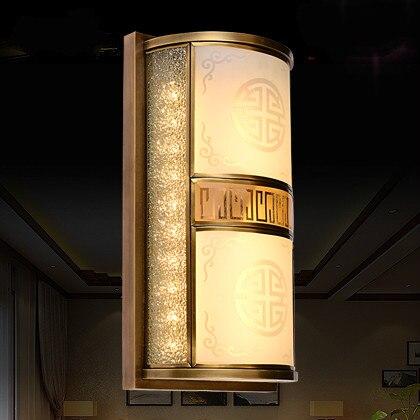 Новый китайский стиль медный настенный светильник ТВ фон настенный светильник спальня прикроватный светильник лестница коридор настенный