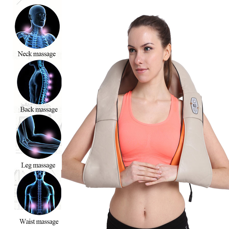 Body Care 4D Shiatsu Physiotherapy Massage Equipment Relaxation Neck/Shoulder/Back Pain Infrared Heated Electric Massager Pillow 4d massager
