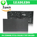 (3 peças/lote) P6 RGB interior Full Color LED Display Module Com 1R1G1B 384*192mm 32*64 pixels para Alta claro Tela Grande