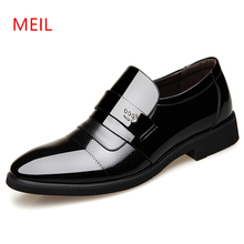 Italian Formal Shoes Men Patent Leather Dress Brand Mens Business Wedding Oxford for Zapatos Elegantes