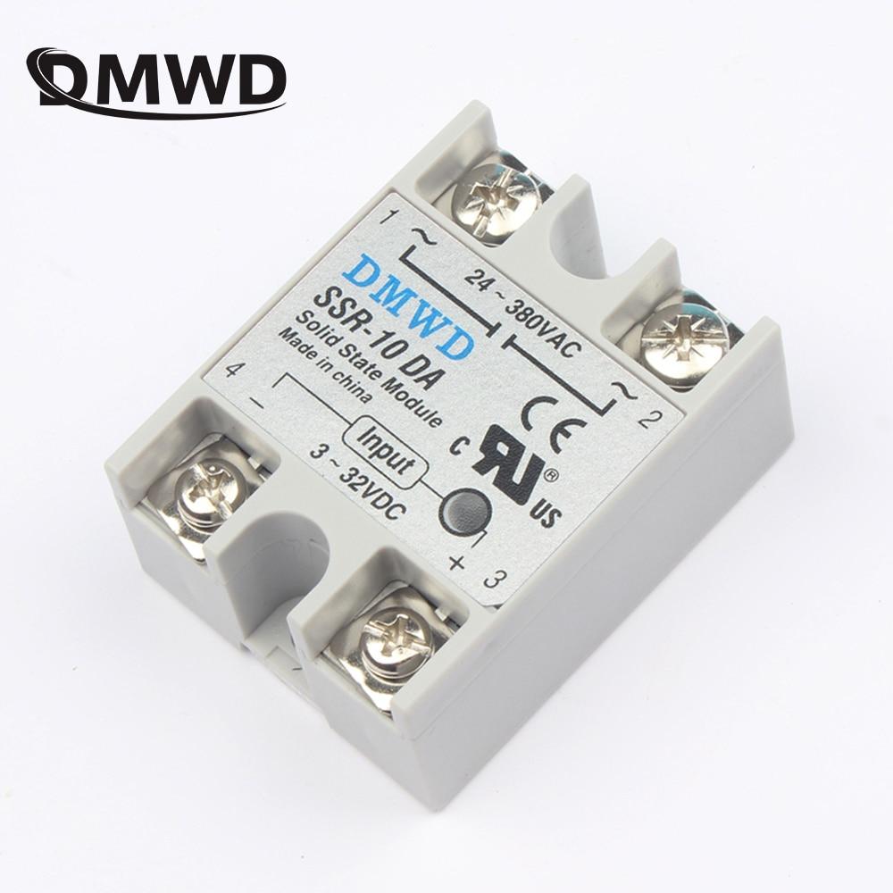 цена на solid state relay SSR-10DA SSR-25DA SSR-40DA 10A 25A 40A actually 3-32V DC TO 24-380V AC SSR 10DA 25DA 40DA DMWD new