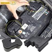 Per VW Tiguan Touran MK2 Atlas Teramont 2016 2017 2018 Vassoio Terminale Positivo Della Batteria Elettrodo Negativo Trim Pole Tappo di Copertura