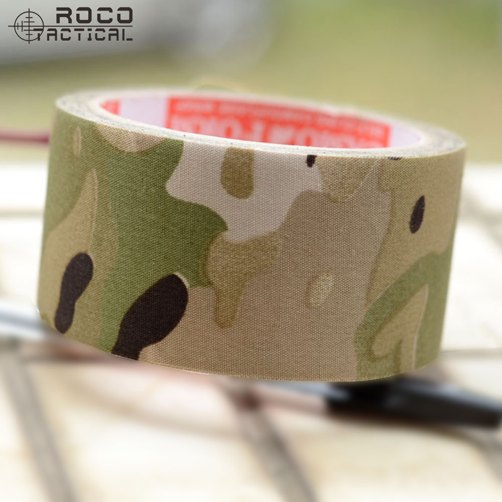 ROCOTACTICAL CP Multicam Camouflage Duct Tape for Airsoft Hunting Fishing Camo Rifle Wrap 10m Dustproof Camouflage Cloth Tape