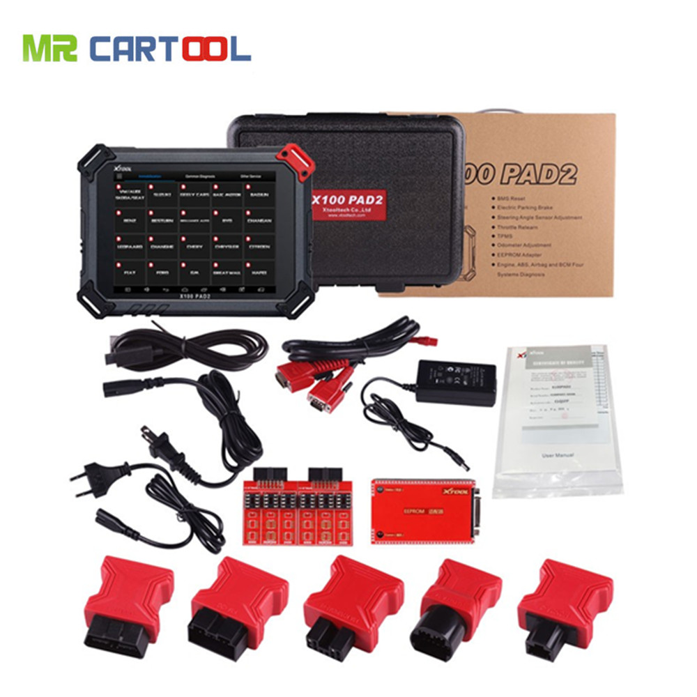 XTOOL X100 PAD2 OBDII Diagnostic Tool Full System Auto Key Programmer Free Update Car Key IMMO ABS//SRS//EPB//Oil Reset//SAS//DPF