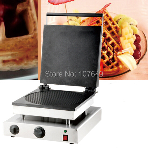 110v 220V Commercial Use Non-stick Electric Pancake Waffle Grill Maker Iron Baker Machine free shipping commercial use non stick 110v 220v electric 8pcs square belgian belgium waffle maker iron machine baker