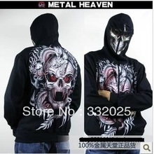 C C Market Free Shipping quality skull jacket luminous Hoodies Sweatshirts Mens 3D print Brand winter