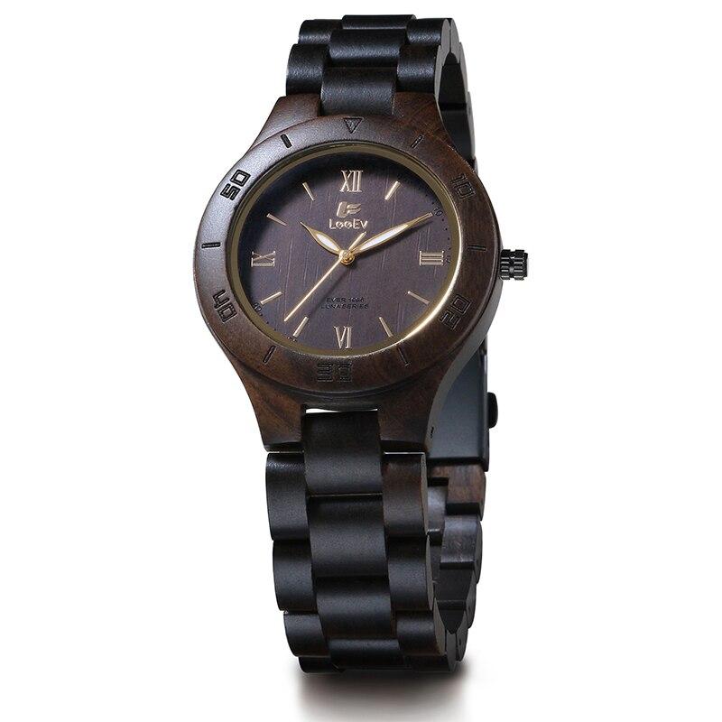 LeeEv EV1986B Womens Natural Black Sandal Wood Watch Quartz Light Weight Vintage Wooden Wrist Watch смартфон philips xenium v787 ebony