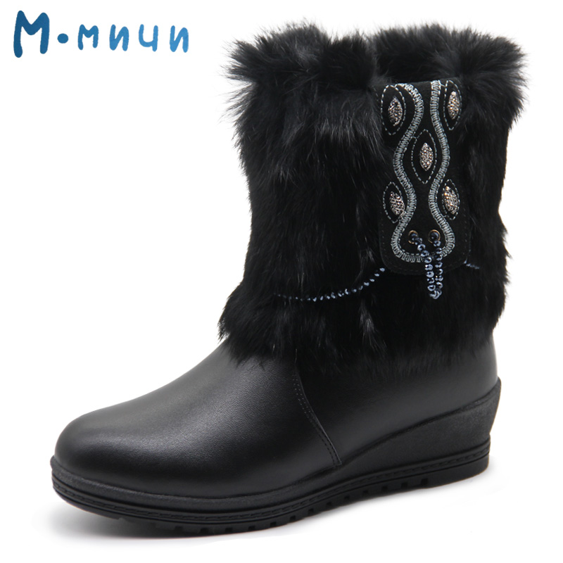 MMNUN Russian Famous Brand Leather Boots for Big Girls Warm Shoes for Girls Black Winter Boots for Girls Children's Winter Shoes pca 6144s rev b 486 industrial motherboard with cpu memory pca 6144 100% test good quality