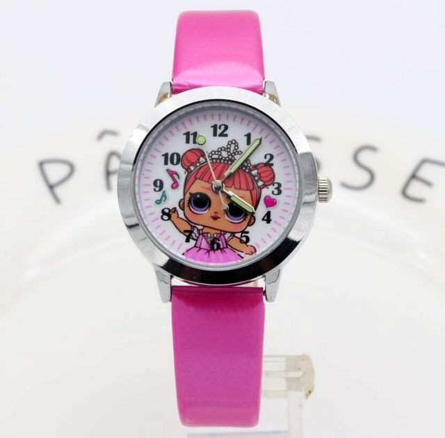2018 Fashion Women Girl Dress Bracelet Watch Quartz Clock doll Leather Band Anal