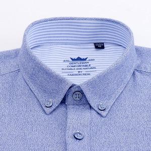 Image 3 - Flannel Shirt Men Long Sleeve Shirt 100% Cotton Plaid Dress Mens Shirts Casual Slim Fit Blouse Tops Plus Size 4XL Camisas Hombre