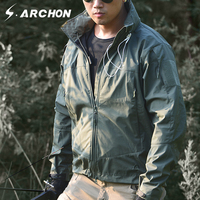 S.ARCHON Soft Shell Windbreaker Military Men Jacket Casual Breathable Lightweight Tactical Jacket Waterproof Army Coat Autumn