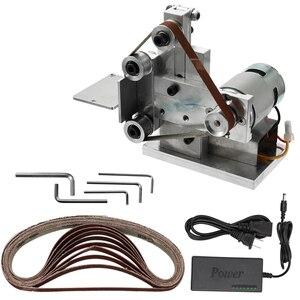 Image 4 - 110 240V Multifunctional Mini Electric Belt Sander Electric Grinder DIY Polishing Grinding Machine Cutter Edges Sharpener
