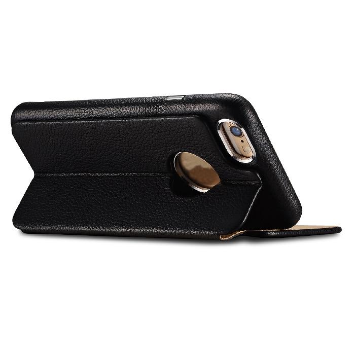 ICARER affärsstil Retro äkta Litchi mönster läder kort plånbok - Reservdelar och tillbehör för mobiltelefoner - Foto 6