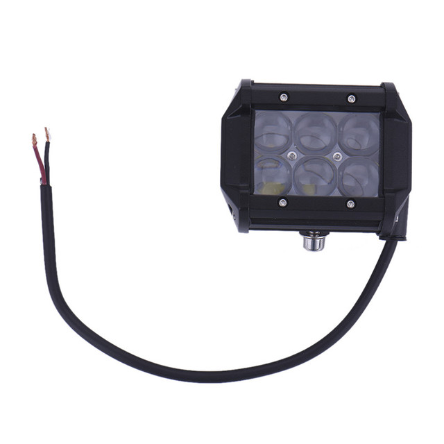 1Pc 4 Inch 4D 18W 6LED Projector Len Spot Beam LED Work Light Lamp for ATV /Truck/Tractor SUV/Jeep fog light