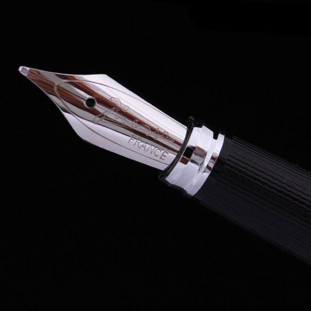 Picasso Pimio 912 luxe bleu profond et argent pince 0.5mm Iridium Nib stylo plume en métal avec boîte-cadeau Original en polyuréthane pour les entreprises