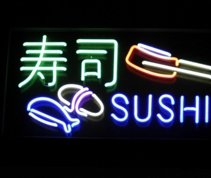 Custom SUSHI Glass Neon Light Sign Beer BarCustom SUSHI Glass Neon Light Sign Beer Bar