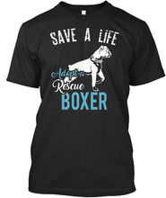 Print Mens Short Save A Life Adopt Rescue Boxer Standard Unisex O-Neck Hipster TshirtsTops Fashion Classic Unique gift T-Shirt save grains saves life