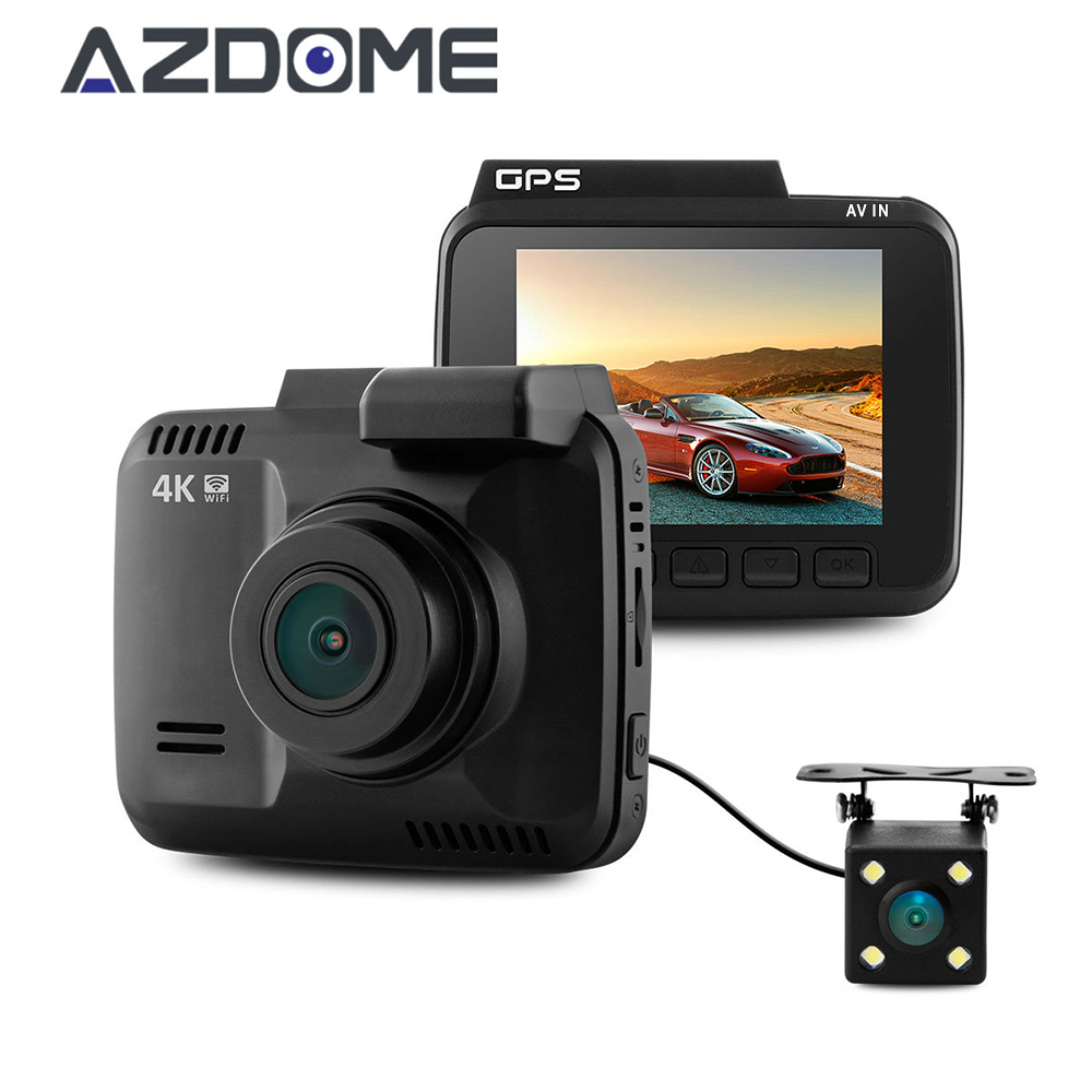 Azdome GS63D Dual Lens FHD 1080P Front + VGA Rear Car DVR Recorder WiFi Dash Cam Novatek 96660 With Rear Camera Built in GPS