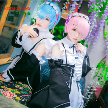 VEVEFHUANG REM cosplay wig or RAM cosplay wigs Re:Zero Starting Life in Another World Costume play Halloween costumes