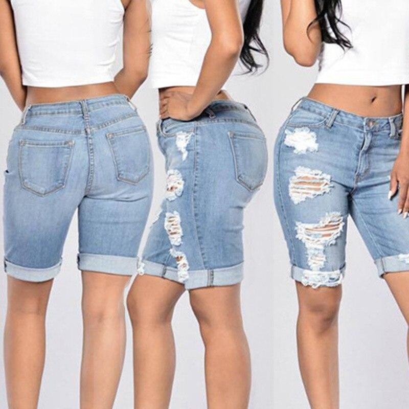Compra Pantalones Cortos Hasta La Rodilla Para Las Mujeres