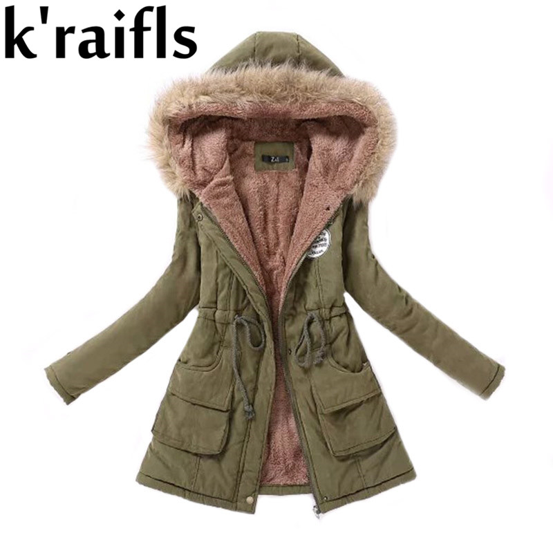 e49712e151ad6 k raifls Warm Parkas Women Coat Fashion Autumn Winter Jacket Women Fur  Collar Long Parka