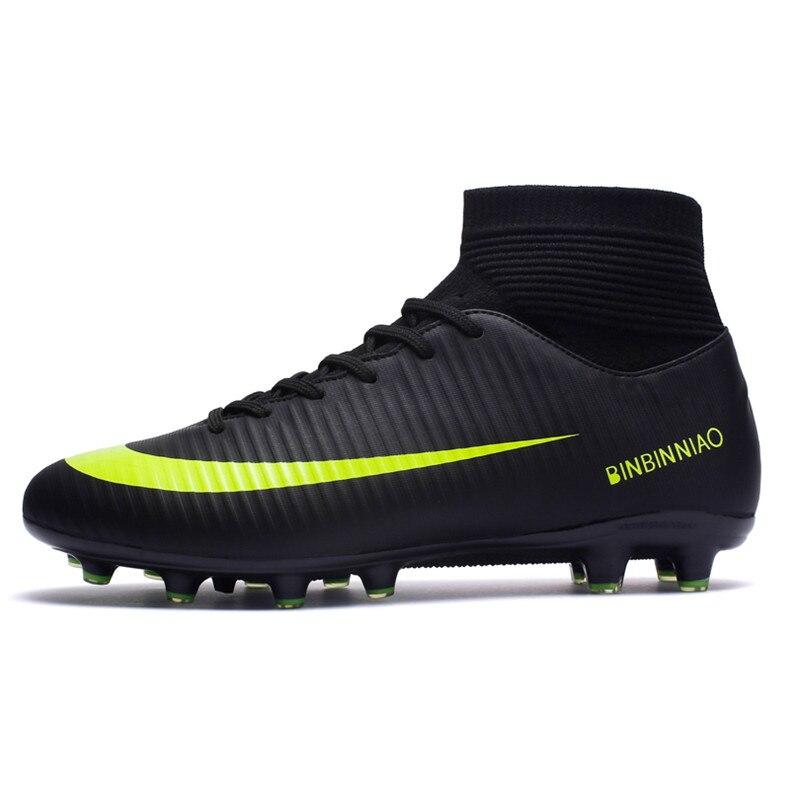 ZHENZU Outdoor Men Soccer Shoes Kids Boys Cleats Football Boots Long Spikes Sport Sneakers Size 35-44 scarpe da cal
