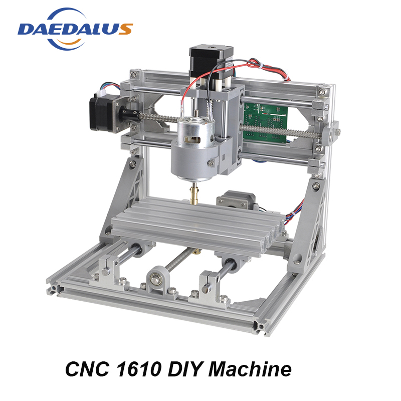 CNC Wood Router DIY 1610 Machine 3 Axis Mini DIY PCB Milling Machine Wood Carving Engraver 500MW Laser With GRBL Control mini cnc router with 500mw laser head pcb milling machine work area 240 170 65mm