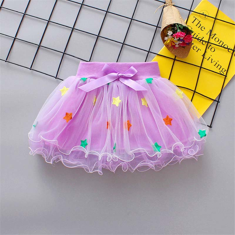 BibiCola baby girls tulle skirts newborn princess clothes fashion baby colorful dance layered petticoats party clothes
