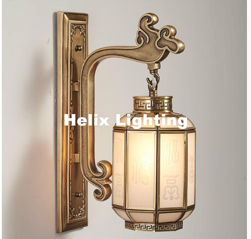 Freies Verschiffen Retro Messing Lampe 110 V 220 Innenbeleuchtung Wandleuchte E14 Schlafzimmer Wandbeleuchtung Antike
