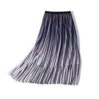 New Modern character gradient printed skirt beautiful clever high pockets hip a7055 joker bust skirt