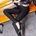 Leggings de Veludo das mulheres Cintura Elástica Sólidos Gloss Legging Engrossado Cashmere Inverno Quente Magro Calças Sexy Para O Sexo Feminino de Todos Os Jogo