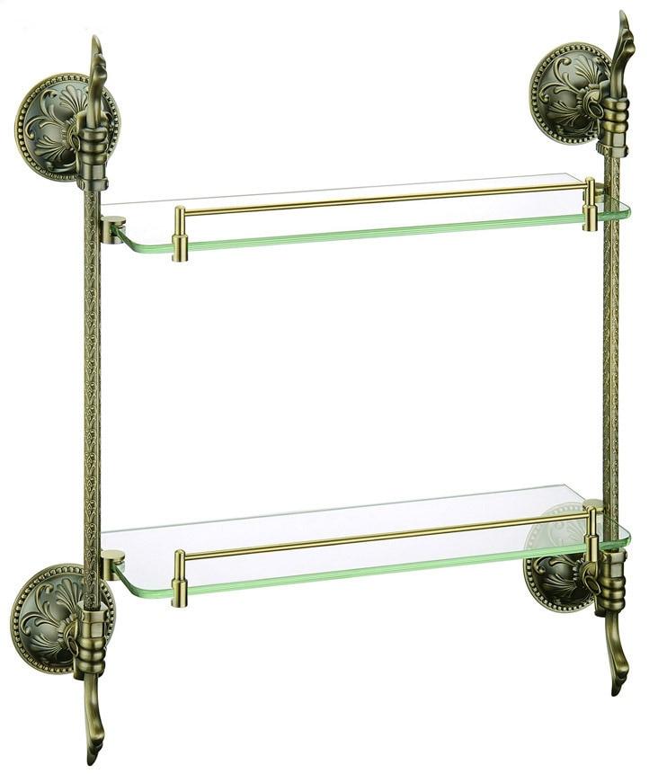 Accessori Per Mensole In Vetro.Shiping Ottone Vetro Mensola Da Bagno Scaffali Bronzo Antico