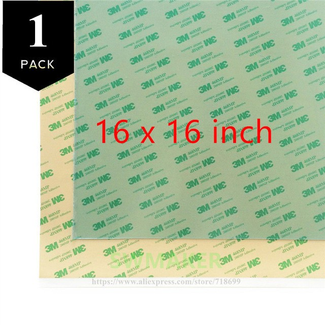 1 pack transparent PEI Sheet <font><b>16</b></font> x <font><b>16</b></font> inch ( i.e 400x400 mm ) <font><b>400</b></font>*400mm 3D Printing Build Surface with 3M 468MP Adhesive Tape image