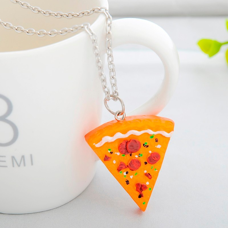 Awesome 7 Pizza Set Best Friend Forever Necklace