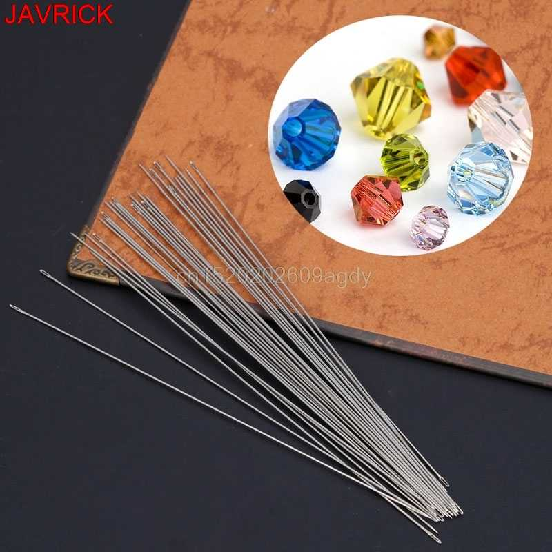 30 x Beading Needles Threading String Cord Jewelry Craft Making Tool 0.6 x 120mm