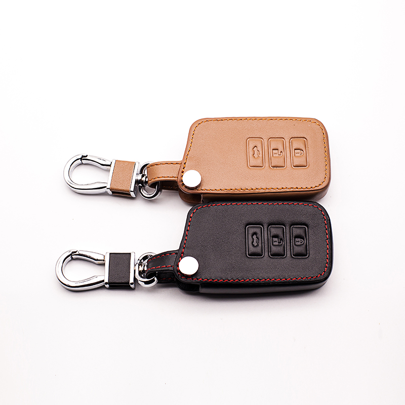 Genuine Leather Car Key Case Smart Key Protect Bag Cover Keyring Keyring for Lexus NX200 ES200 250 RX200t case protect shell