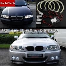 High Quality COB Led Light White Halo Cob Led Angel Eyes Ring Error Free for BMW E46 coupe 1999 2000 2001 2002 2003 стоимость